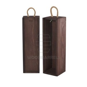 Sliding Lid Wine Box for 1 bottles palisander